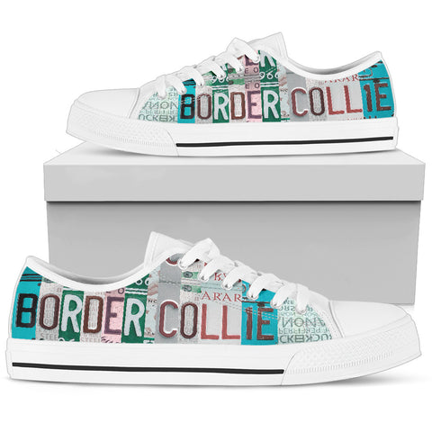 Border Collie Mom Print Low Top Canvas Shoes For Women- Limited Edition