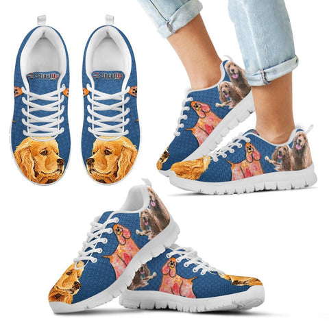 Cocker Spaniel Print Running Shoes For Kids