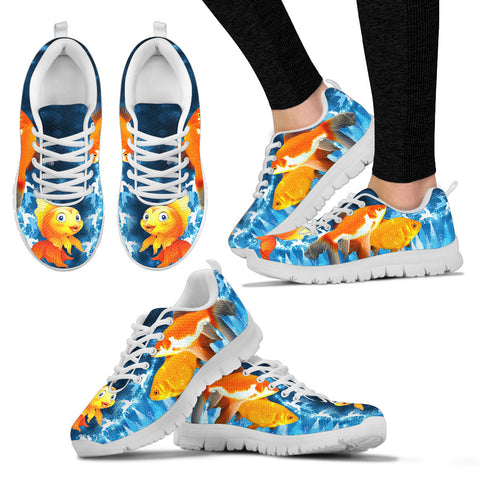 Goldfish Print Christmas Running Shoes For Women
