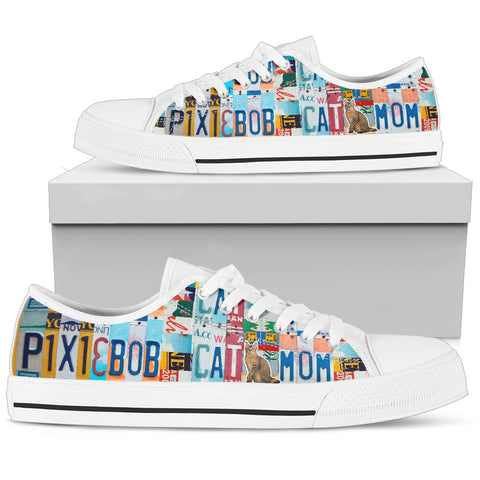 Pixie-Bob Cat Print Low Top Canvas Shoes for Women