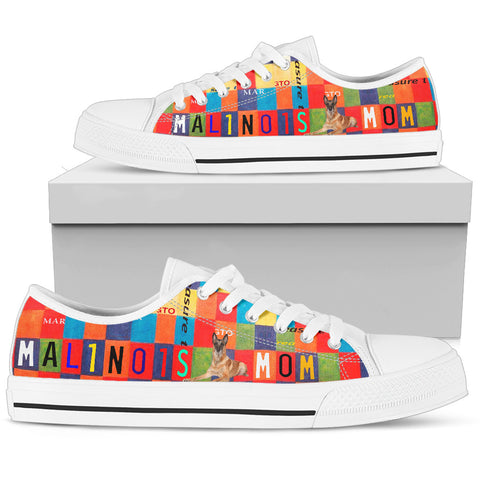 Malinois Mom Print Low Top Canvas Shoes for Women