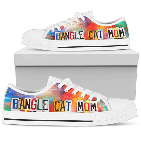Bengal Cat Mom Print Low Top Canvas Shoes for Women