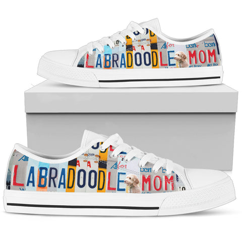 Labradoodle Print Low Top Canvas Shoes for Women