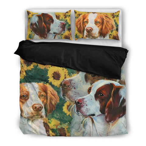 Lovely Brittany Dog Print Bedding Set