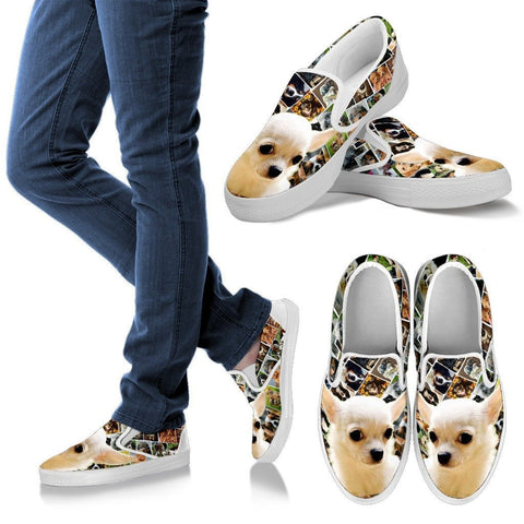 Amazing Chihuahua Print Slip Ons For WomenExpress Shipping