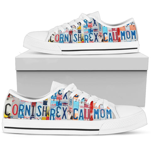 Cornish Rex Cat Low Top Canvas Shoes For Women