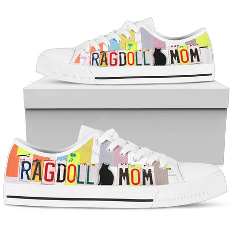 Ragdoll Mom Print Low Top Canvas Shoes for Women