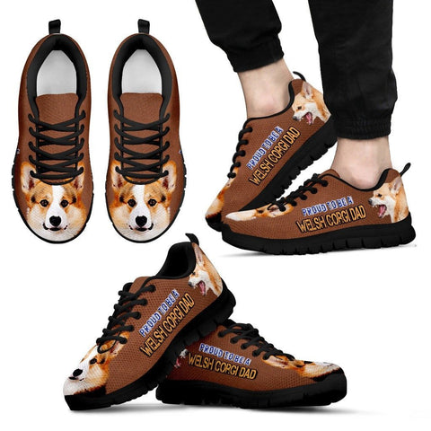 Proud To Be A Pembroke Welsh Corgi Dad Sneakers For Men Father's Day Special