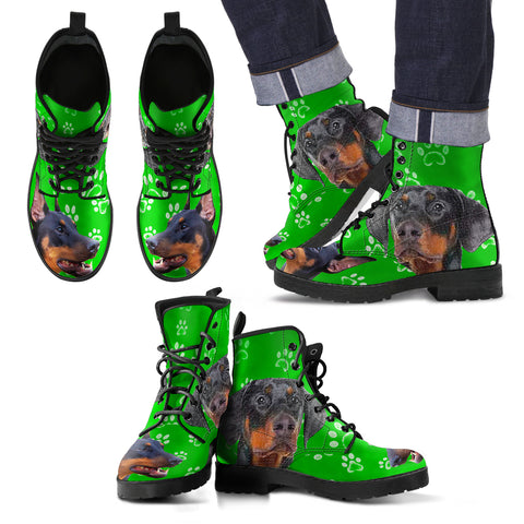 DOBERMAN PINSCHER DOG PRINT BOOTS FOR MEN-LIMITED EDITION