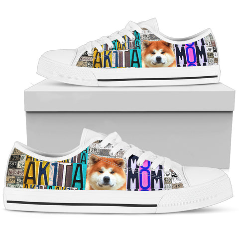Women's Low Top Canvas Shoes For Akita Mom