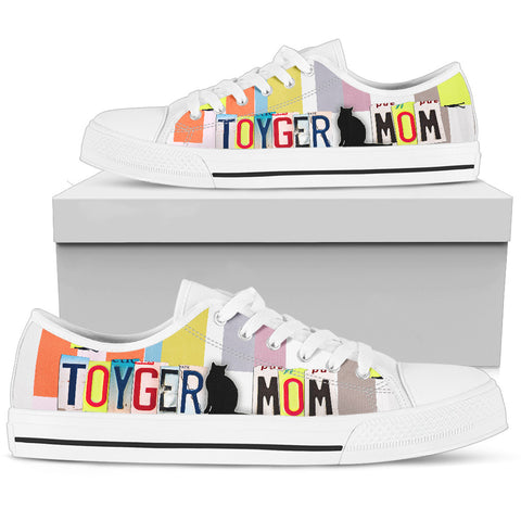 Toyger Mom Print Low Top Canvas Shoes for Women