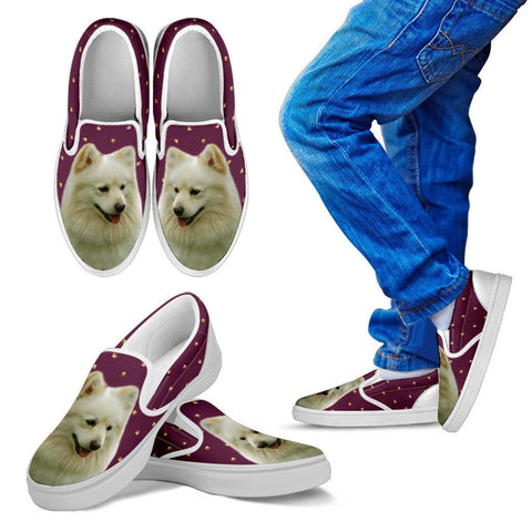 German Spitz Dog Print Slip Ons For KidsExpress Shipping