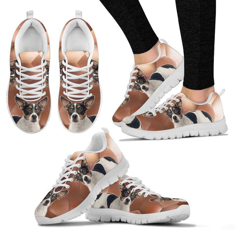 Teddy Roosevelt Terrier Print (White/Black) Running Shoes For WomenExpress Shipping