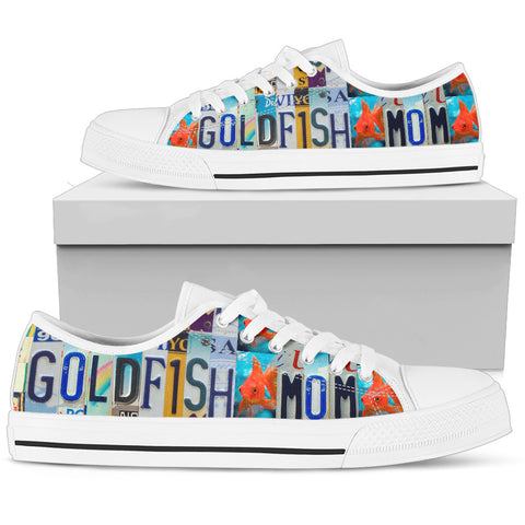 Goldfish Print Low Top Canvas Shoes for Women