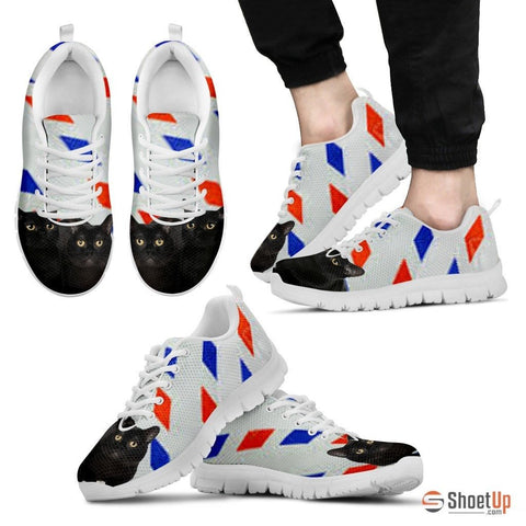 Bombay Cat Print Running Shoes For Men