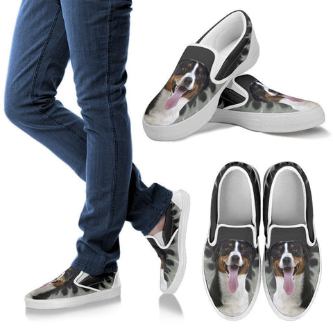 Greater Swiss Mountain Dog Print Slip Ons For WomenExpress Shipping
