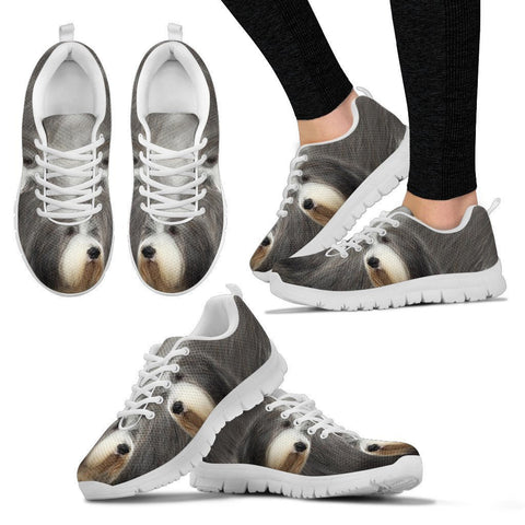 Bearded Collie Dog Print Running Shoes For Women