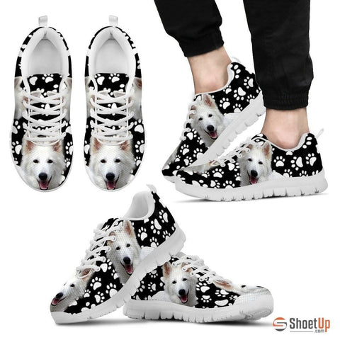 Dog Paws Print (Black/White) Running Shoes For Men Limited Edition