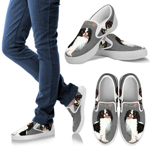 Lovely Japanese Chin Print Slip Ons For Women