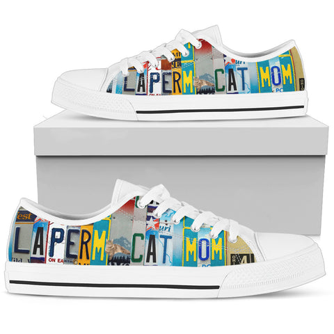 LaPerm Cat Print Low Top Canvas Shoes for Women