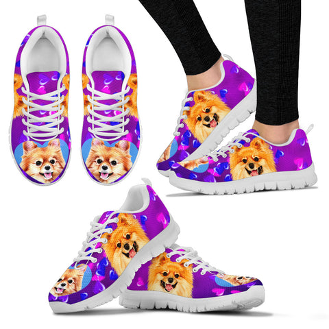 Valentine's Day SpecialCute Pomeranian Dog Print Running Shoes For Women