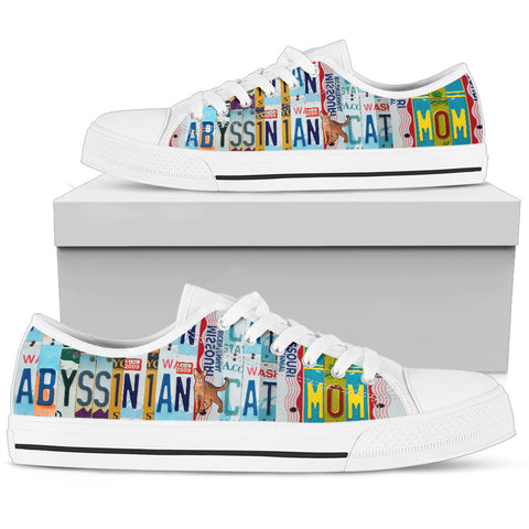 Abyssinian Cat Low Top Canvas Shoes For Women