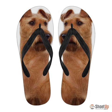Irish Terrier Flip Flops For Women