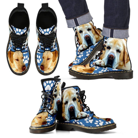 Paws Print Labrador Boots For MenLimited EditionExpress Shipping