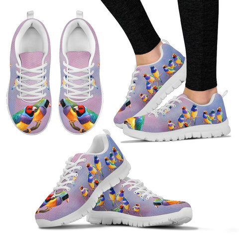 Gouldian Finch (Rainbow Finch) Bird Christmas Running Shoes For Women