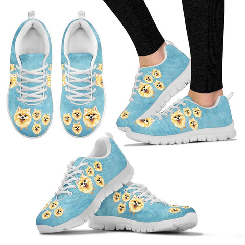 Lovely Pomeranian Dog Print Running Shoes For Women