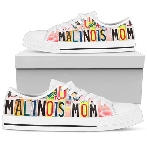 Lovely Malinois Mom Low Top Canvas Shoes For Women