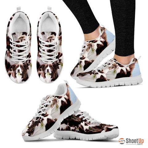 English Shepherd In Lots Print Running Shoe For Women