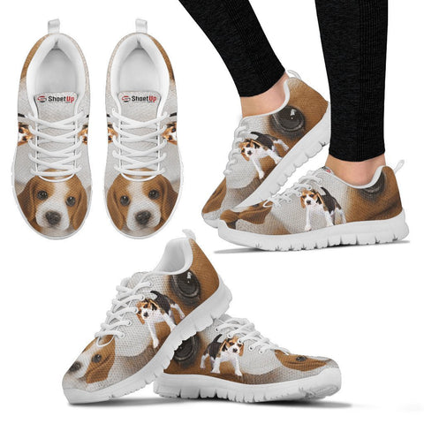 Beagle Eyes Print Running Shoes For Women