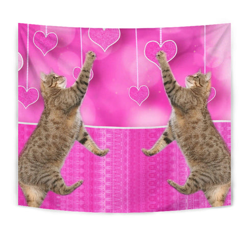 Pixie bob Cat Print Tapestry
