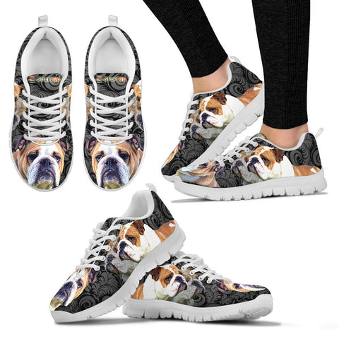Bulldog On BlackWomen's Running Shoes