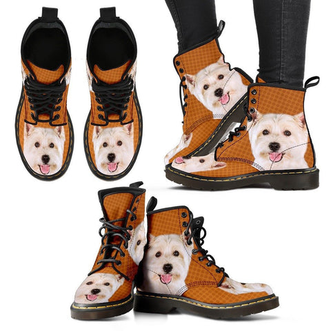 West Highland White Terrier Print Boots For WomenExpress Shipping