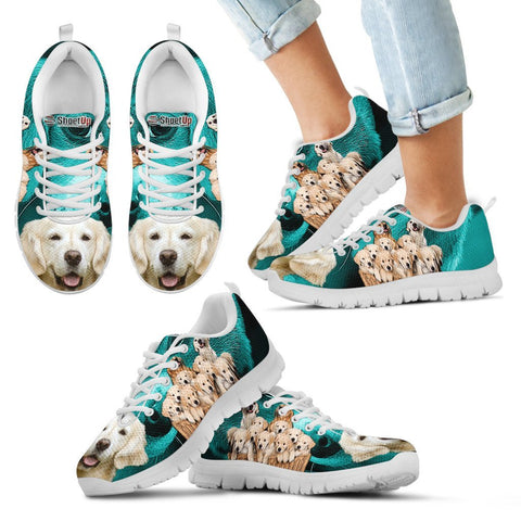 Golden Retriever Print Running Shoes For Kids
