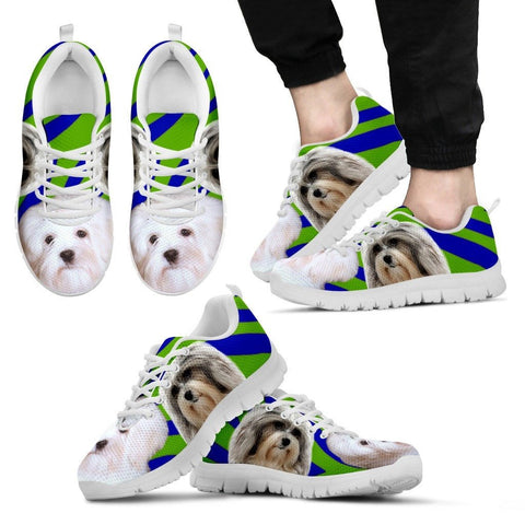 White Lowchen Dog Running Shoes For Men