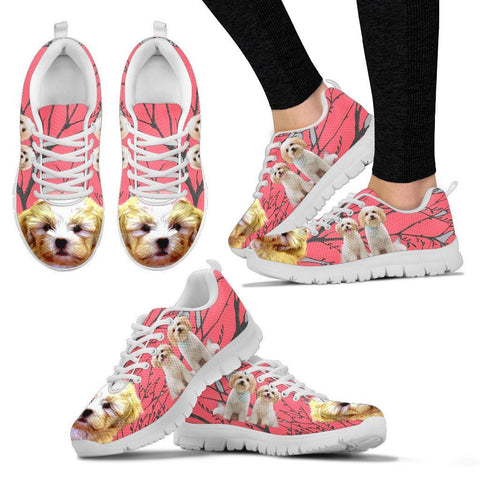 Cute Shih Poo Print Running Shoe For Women Express Shipping