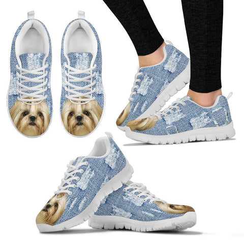 Shih Tzu Dog Print Running Shoes For Women