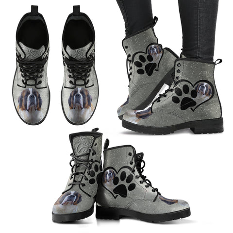 Valentine's Day SpecialSt. Bernard Dog Print Boots For Women