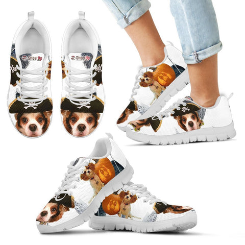Cavalier King Charles Spaniel Halloween Print Running Shoes For Kids