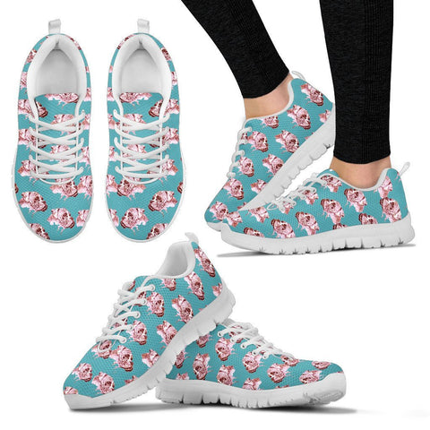 Boxer Dog Pattern Print Sneakers For Women Express Shipping