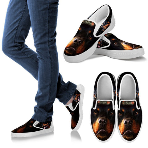 Amazing Rottweiler Print Slip Ons For Women