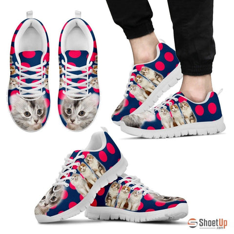 Beautiful American Curl Cat Print Sneakers For Men
