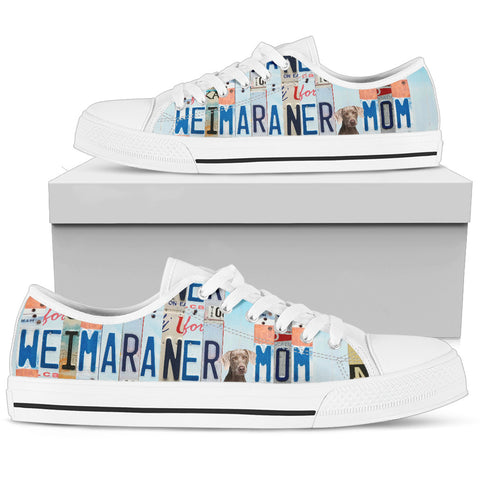 Weimaraner Print Low Top Canvas Shoes for Women