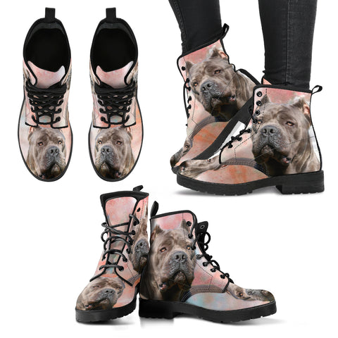 New Cane Corso Print Boots For Women