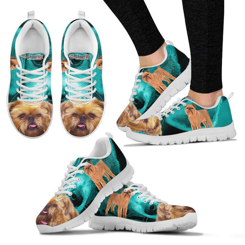 Brussels Griffon On Deep Skyblue Print Running Shoes For Women
