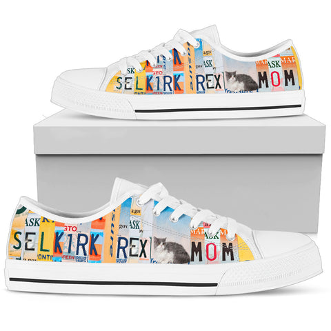 Women's Low Top Canvas Shoes For Selkirk Rex Mom