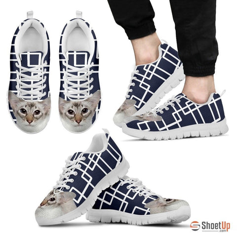 Balinese Cat Print Running Shoes For Men